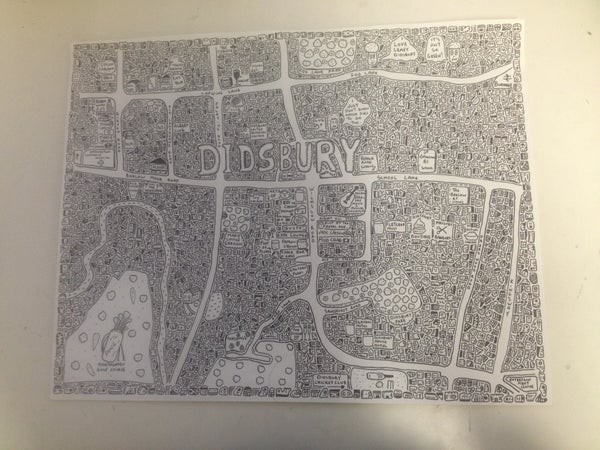Image of Didsbury Doodle Map