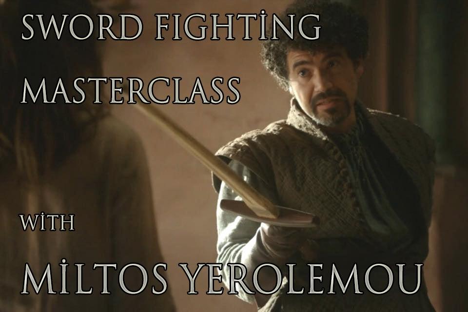 Image of Sword Fighting Master Class with Miltos Yerolemou