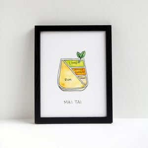 Mai Tai Cocktail Print by Alyson Thomas of Drywell Art. Available at shop.drywellart.com