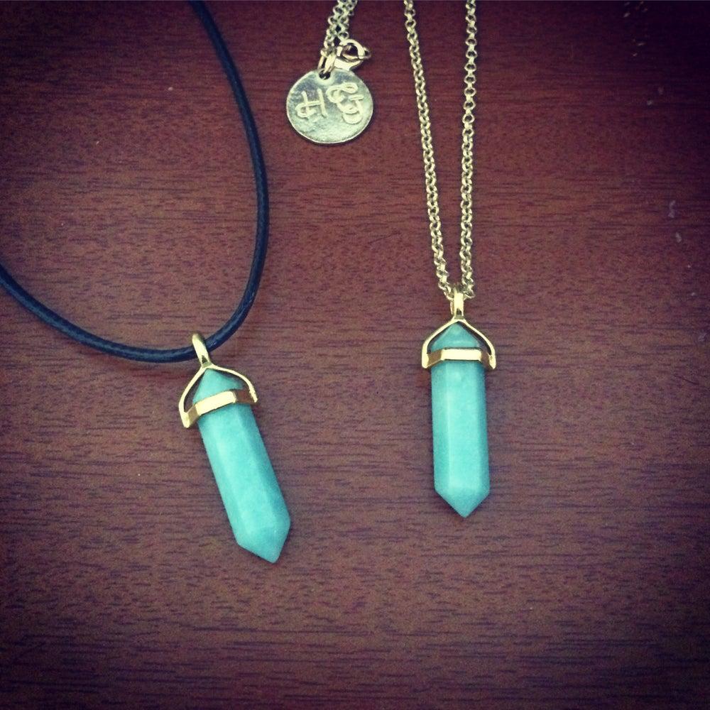 Image of Gold amazonite necklace & choker