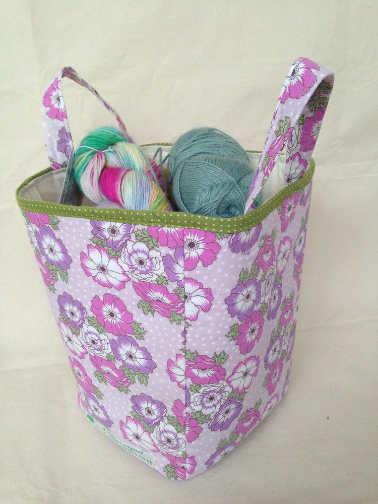 Image of 'Pansies' box bag