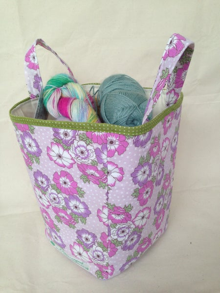 Image of 'Pansies' box bag