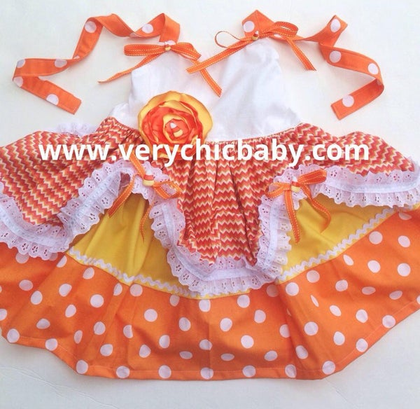 Image of Candy Corn Princess Dress
