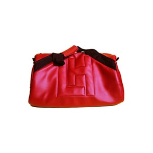 Image of Live House Embossed Duffle (Red)