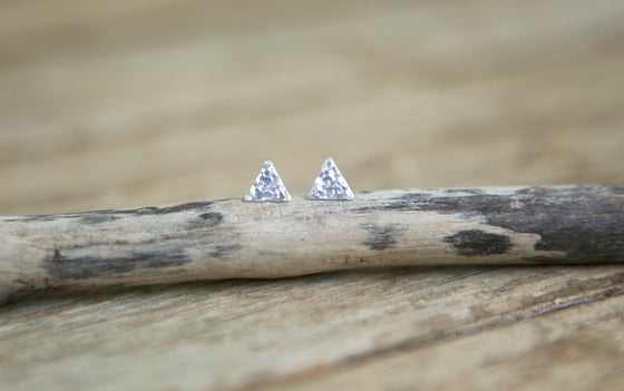 Image of Hammered Triangle Studs