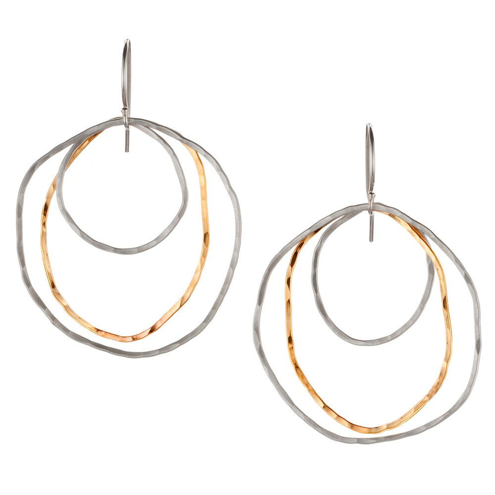 Image of Triple Organic Earrings