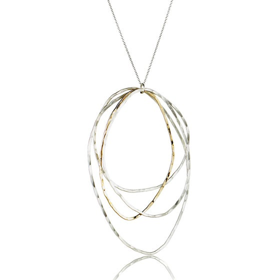 Image of Four Organic Oval Pendant