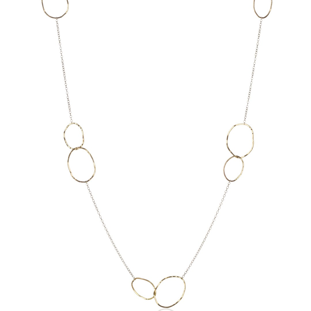 Image of Long Stacked Stones Necklace