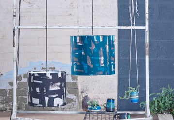 Image of 'Abstract Grid'  Lampshade