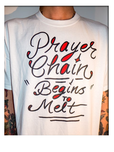"Image of ""Begins To Melt"" shirt"
