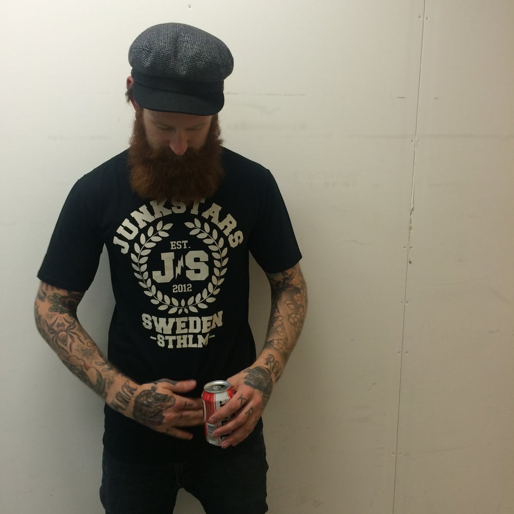 "Image of JUNKSTARS ""Wreaths"" ( Black T-shirt)"