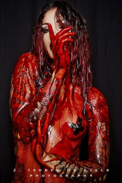 Image of J ISOLBEL DE LISLE BLOOD PRINT