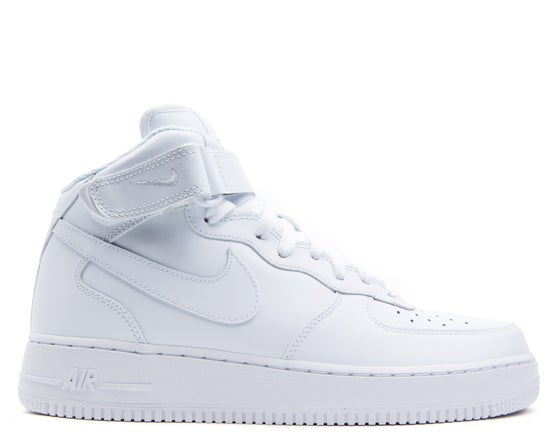 """Image of Nike Air Force 1 Mid """"White/White"""""""