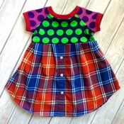 Image of Polka Plaid Button-Up tunic/dress, size 2