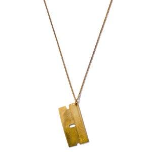 Image of Razor Blade Necklace