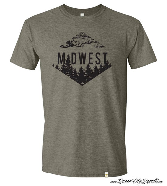 Image of Midwest Trees Tee, Military Green