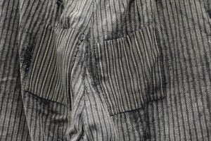 Image of 1900'S FRENCH SALT N' PEPPER STRIPPED PANTS PATCHED & FADED 2 パッチワークパンツ