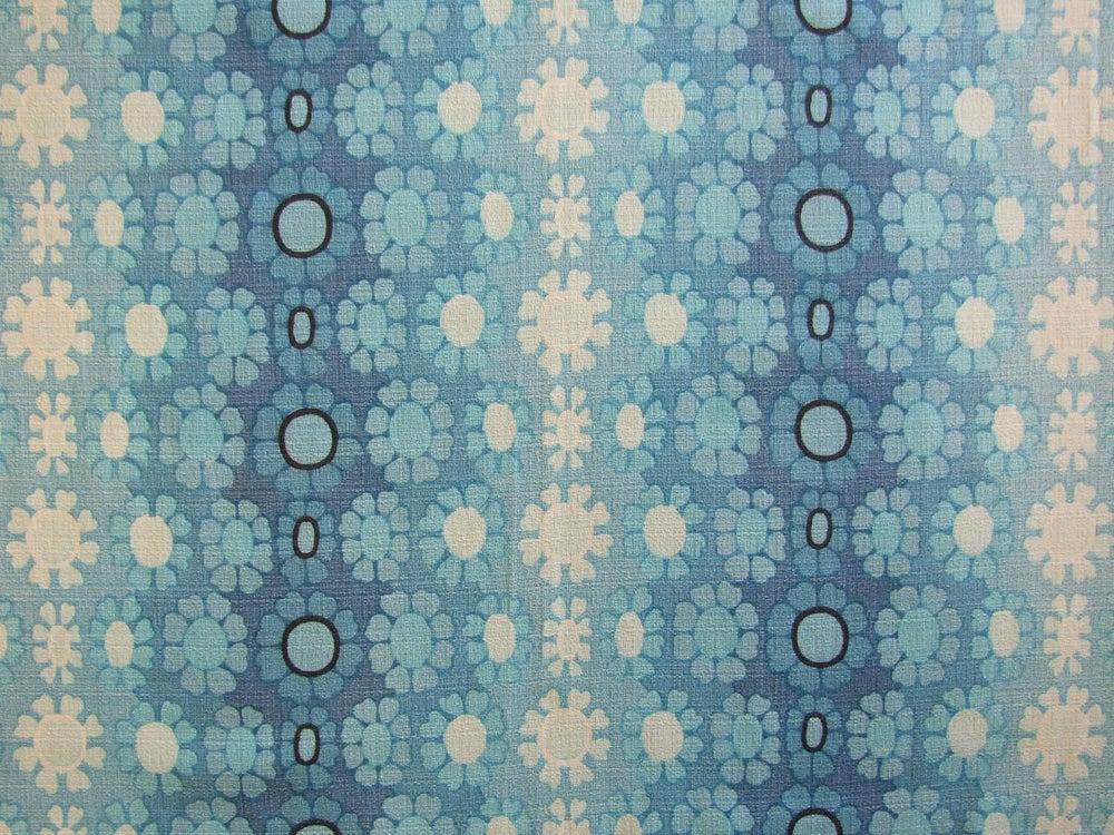 Image of 60s Blue barkcloth - fat quarter