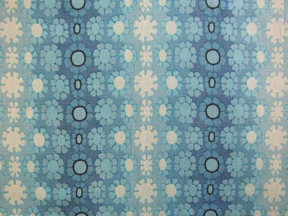 Image of 60s Blue barkcloth - fat quarter