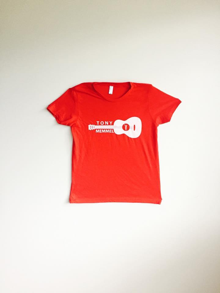Image of NEW Red Tony Memmel Guitar T-Shirt (YOUTH Unisex)