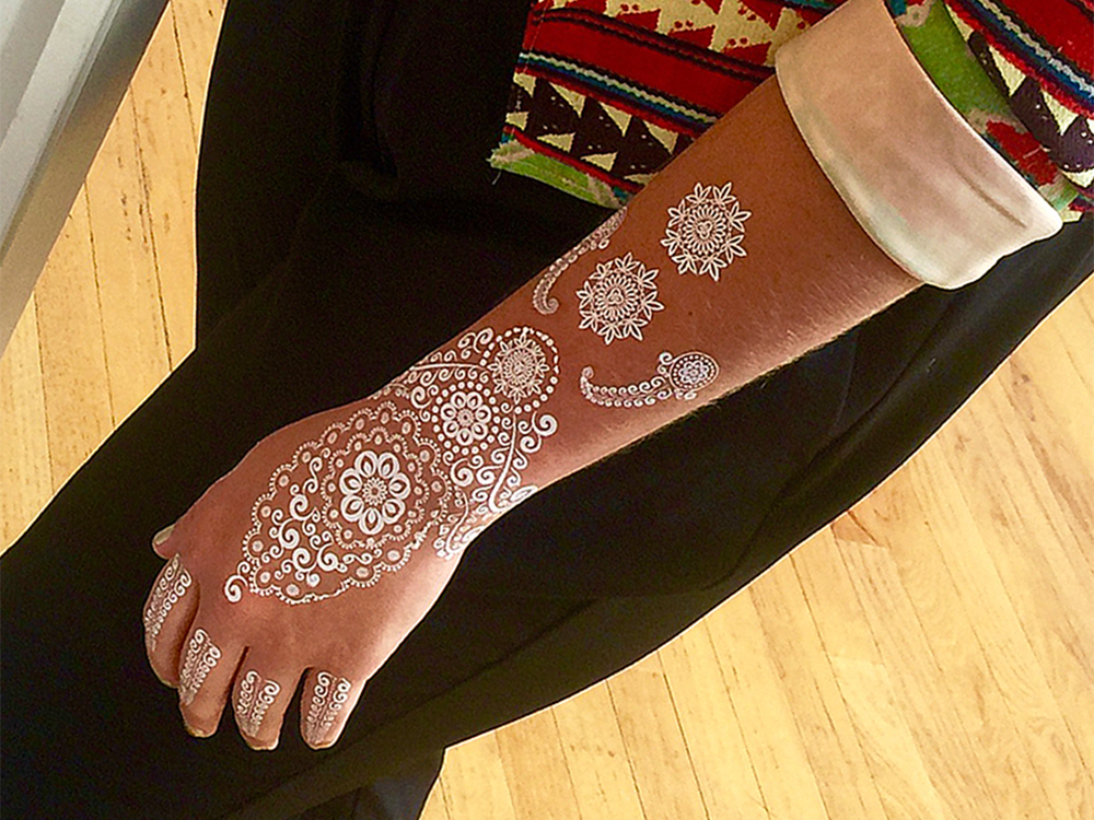 Image of Dania White Henna Tattoo