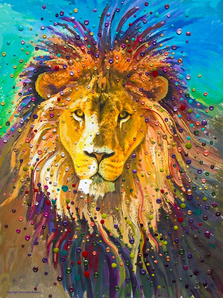 Image of Lion Heart Energy Painting - Giclee Print