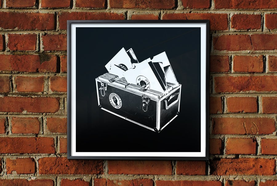 Image of 'Record Box' Framed Print