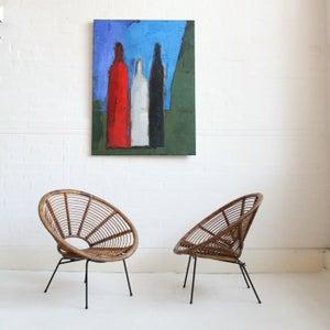 Image of modernist oil on canvas
