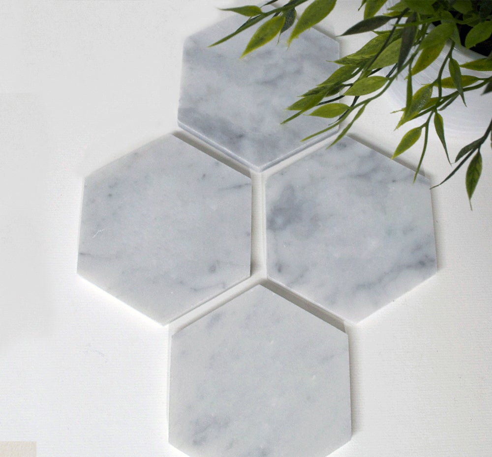Image of Plain Marble Coasters