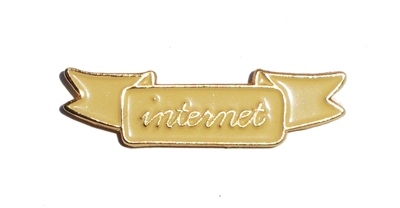 Image of INTERNET BANNER PIN
