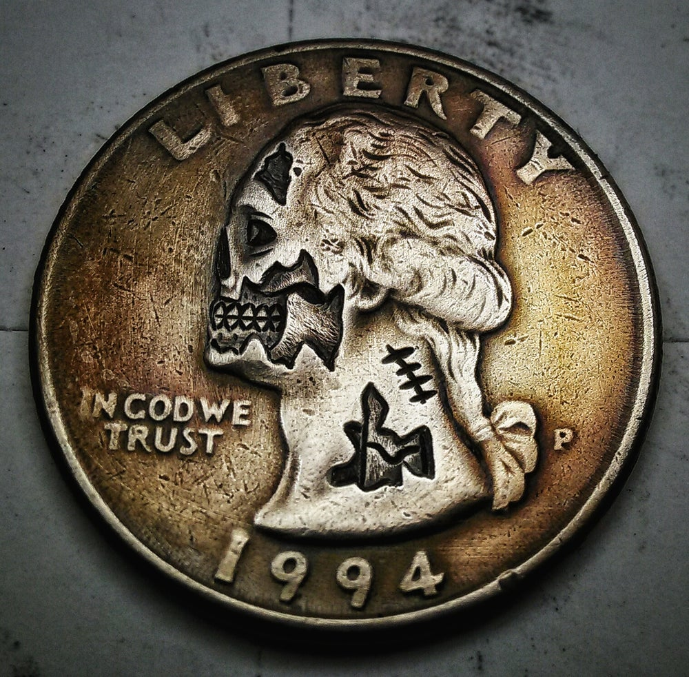 Image of Washington Quarter Zombie - Made To Order