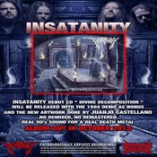 Image of INSATANITY-DIVINE DECOMPOSITION- CD PREORDER