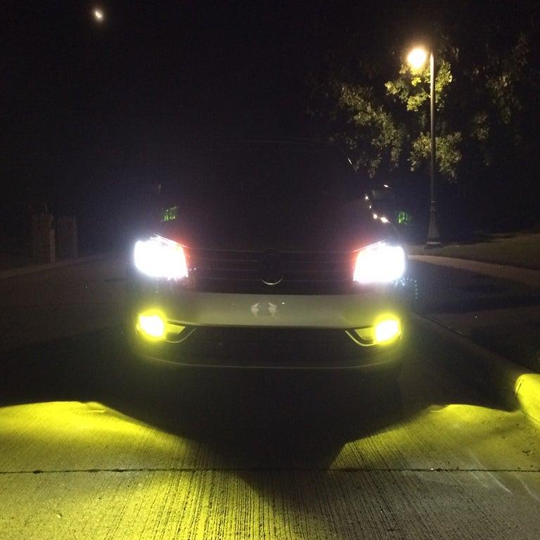 Yellow 3000k Led Fog Lights For All Volkswagen Amp Audi Car