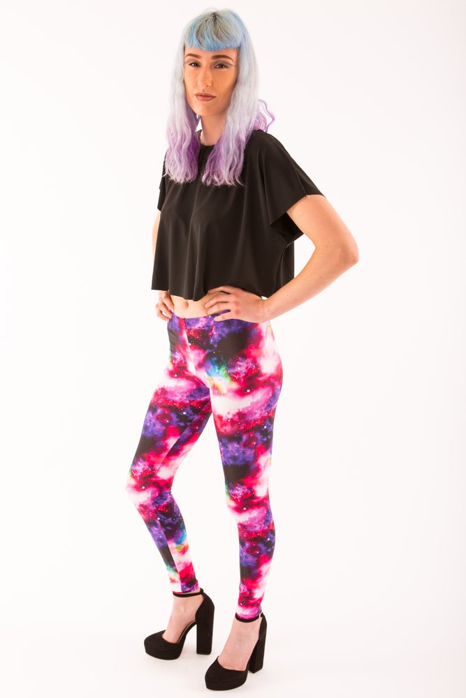 Image of Pink Galaxy Leggings