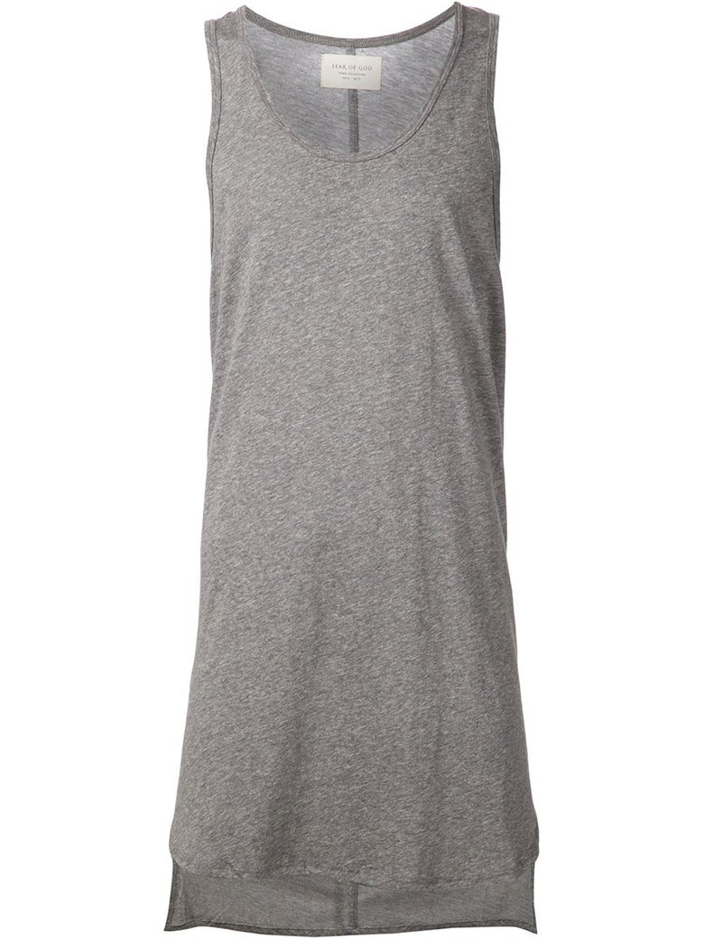 Image of Fear of God Third Collection Essential Long Tank Heather Grey