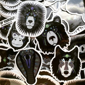 Image of Neon Natives | Die-Cut Stickers (6 Pc Set)