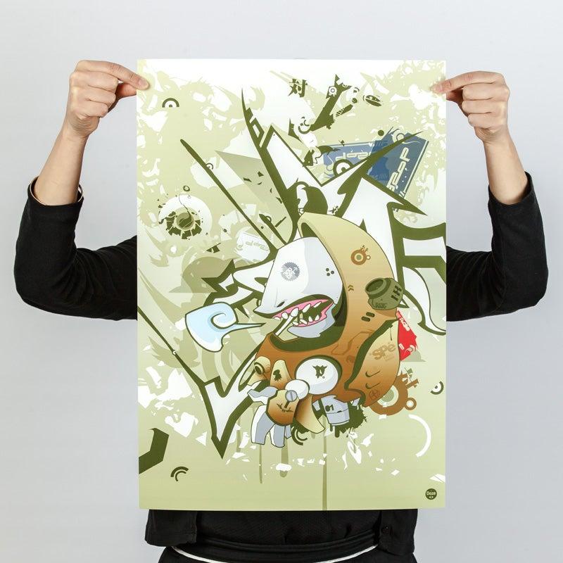 Image of Doze - Sharp Shark - Art Print