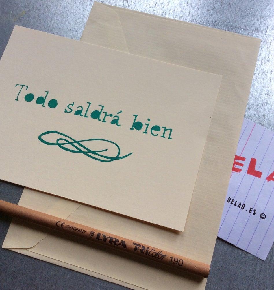 """Image of Mini serigrafía """"Todo saldrá bien"""""""