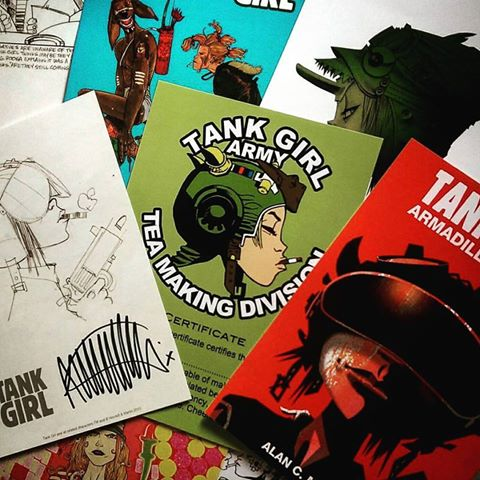 Image of Jamie Hewlett Art Print Set (with Booga Beer kit!)