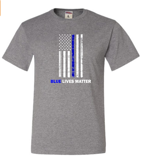 Image of #BlueLivesMatter Blue Thin Line Flag