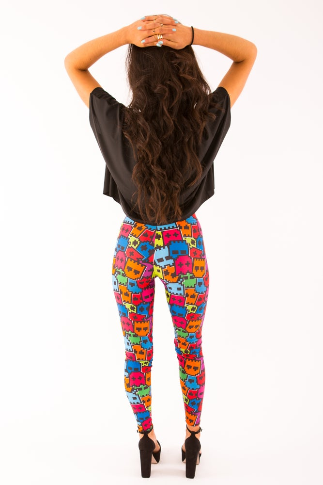 Image of PacMan Ghostie Leggings