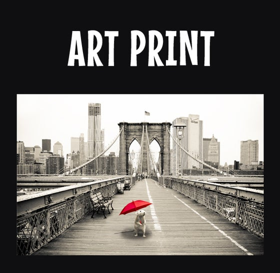 Image of Marty on the Brooklyn Bridge - FINE ART PRINT