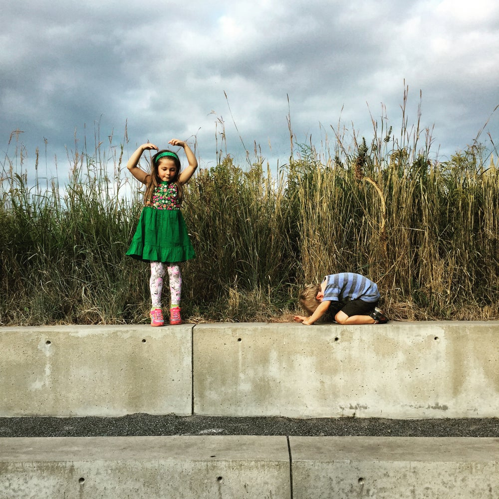 Image of Lesly Deschler Canosi / Small Pieces 1 Sibling Performance, Hudson. 2015