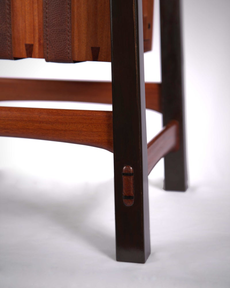 Image of Cabrueva and Leather Side Table