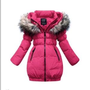 Image of Pink Down Coat Kids