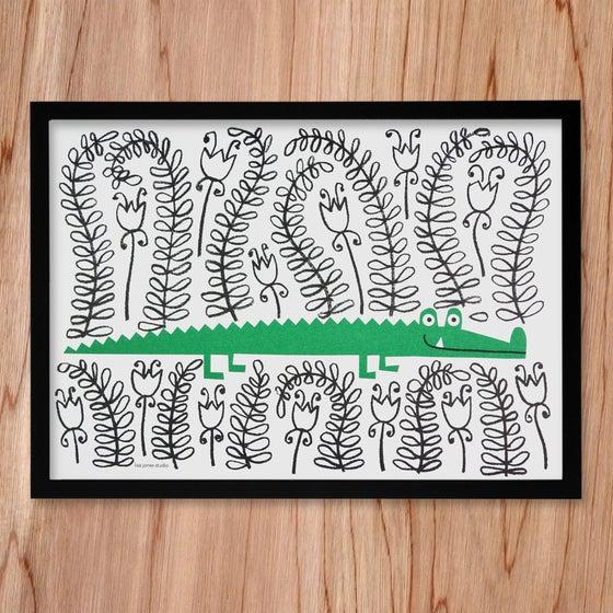 Image of Risograph | Crocodile