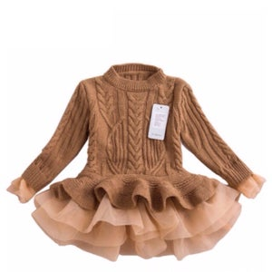 Image of Kid Sweater Dress with Lace