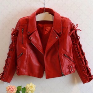 Image of Red Leather Jacket Kids