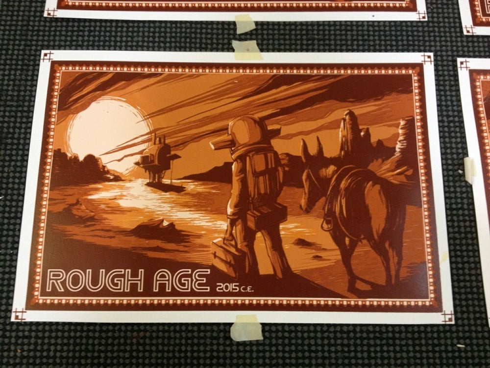 "Image of ""Homeward' screen print by Cigar Box Studios"