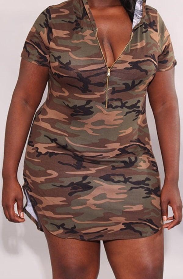 Image of Camouflage Boyfriend Tee Dress